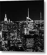 Top Of The Rock In Black And White Metal Print