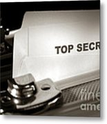 Top Secret Document In Armored Briefcase Metal Print