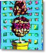 Topiary Of Dried Roses Metal Print