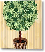 Topiary Tree Metal Print
