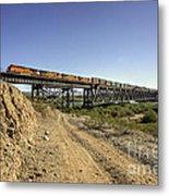 Topock Bridge Freight Metal Print