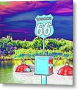 Topock The Mother Road Metal Print