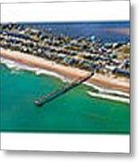 Topsail Island Aerial Panels Metal Print