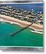 Topsail Island Aerial Panels II Metal Print