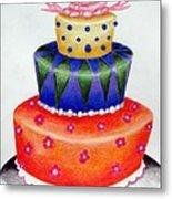 Topsy Turvy Cake Metal Print