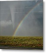 Tornado And The Rainbow Metal Print
