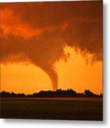 Tornado Sunset Metal Print