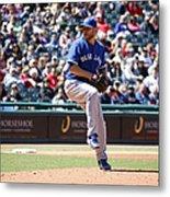 Toronto Blue Jays V. Cleveland Indians Metal Print