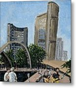 Toronto City Hall Metal Print