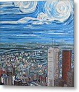 Toronto Cn Tower Veiw North East Metal Print