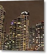 Toronto Condos On A Cold Winter Night Metal Print