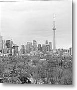 Toronto In Black And White Metal Print