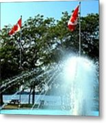 Toronto Island Fountain Metal Print
