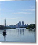 Toronto Skyline From Tommy Thompson Park Metal Print