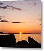Toronto Skyline Panorama At Sunrise Metal Print