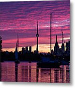 Toronto Skyline - The Boats Are Coming In Metal Print