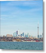 Toronto Skylines At The Waterfront Metal Print