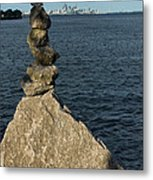 Toronto's Cn Tower Sculpted From Natural Stones Metal Print