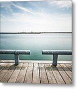 Torontos Lakeside Metal Print