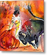 Bullfighting The Reds Metal Print