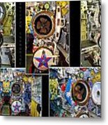Torpedo Tubes Collage Russian Submarine Metal Print