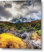 Torres Del Paine Peaks Metal Print