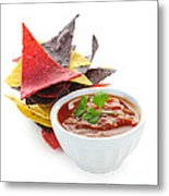 Tortilla Chips And Salsa Metal Print
