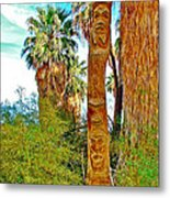 Totem Pole In Coachella Valley Preserve-california Metal Print