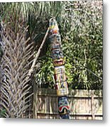 Totem Pole Metal Print by Paula Rountree Bischoff