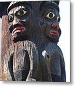 Totem Twins Metal Print