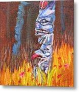 Totems Of Haida Gwaii Metal Print