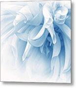 Touch Of Blue Dahlia Flower Metal Print
