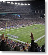 Touchdown Patriots Nation Metal Print by Juergen Roth