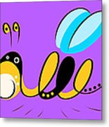 Thoughts And Colors Series Bee Metal Print