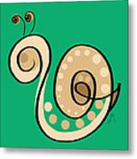 Thoughts And Colors Series Snail Metal Print