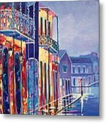 Toulouse At Bourbon New Orleans Metal Print