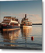 Tour Boats Lake Geneva Wi Metal Print