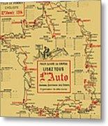 Tour De France 1914 Metal Print