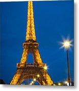 Tour Eiffel De Nuit Metal Print