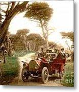 Royal Tourist Touring Car On The 17 Mile Drive Pebble Beach California Circa 1910 Metal Print