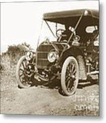 Touring Car On The Road California 1906 Metal Print