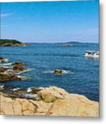 Touring The Rocky Shore Metal Print