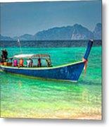 Tourist Longboat Metal Print