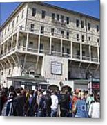 Tourists At Alcatraz Island Metal Print
