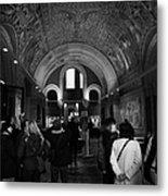 tourists inside the Gedenkhalle memorial hall of Kaiser Wilhelm Gednachtniskirche Metal Print