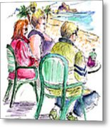 Tourists On The Costa Blanca In Spain Metal Print