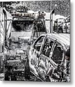 Tow Truck Towing Demolition Car Metal Print