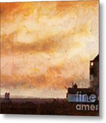 Towards The Shore Metal Print