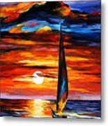 Towards The Sun - Palette Knife Oil Painting On Canvas By Leonid Afremov Metal Print