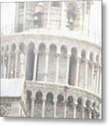 Tower And Fog Metal Print